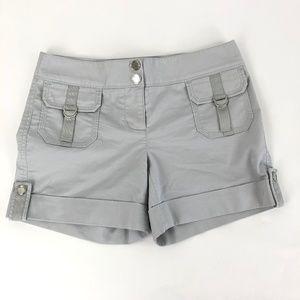 White House Black Market Women 2 Chino Shorts Gray